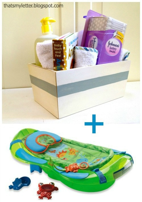 baby shower bath themed gift idea