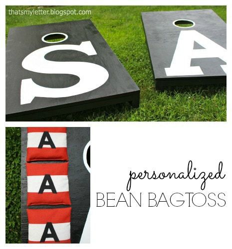 diy personalized beanbag toss game