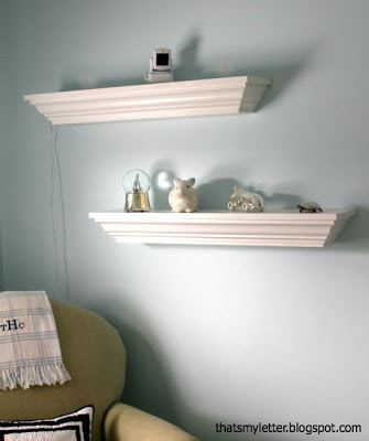 decorative crown molding ledges