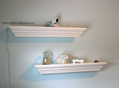 diy crown molding decorative ledges