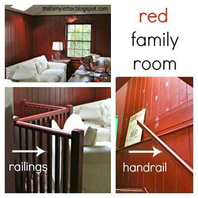 red painted family room