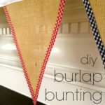 """B"" is for Burlap Bunting #2"