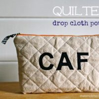 """Q"" is for Quilted Drop Cloth Pouch"