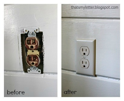 painted outlets before and after