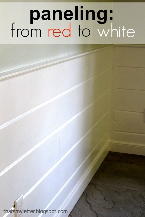 paneling from red to white