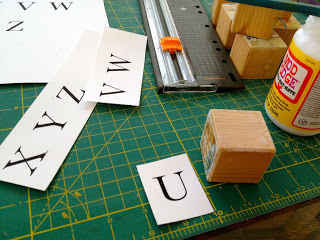 how to make wood alphabet blocks