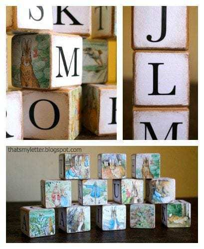 how to make alphabet wood blocks