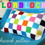 DIY Colorblock Patchwork Pillow