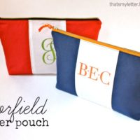 """C"" is for Colorfield Zipper Pouch"