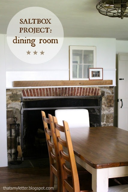 primitive farmhouse dining room makeover