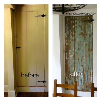 farmhouse door before and after