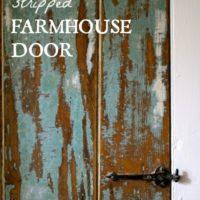 DIY Stripped Farmhouse Door