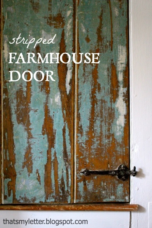 diy stripped farmhouse door