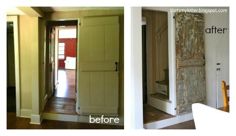 primitive farmhouse door before and after