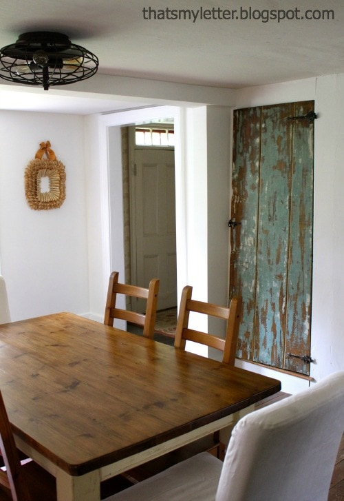 dining room farmhouse door closed