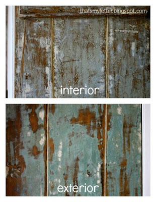 antique farmhouse door interior and exterior