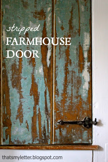 stripped farmhouse door