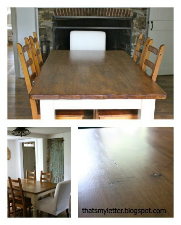 diy farmhouse dining table with chalk paint