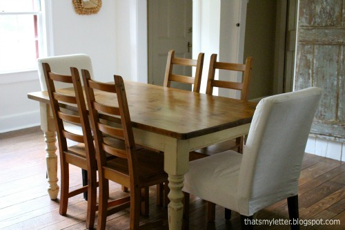 farmhouse dining room after