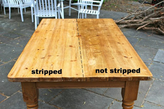 farmhouse table stripped versus not stripped