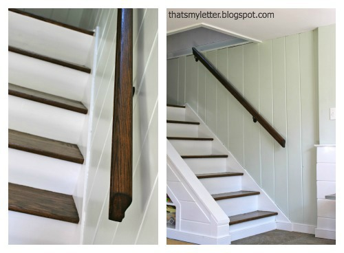 railing makeover with stain
