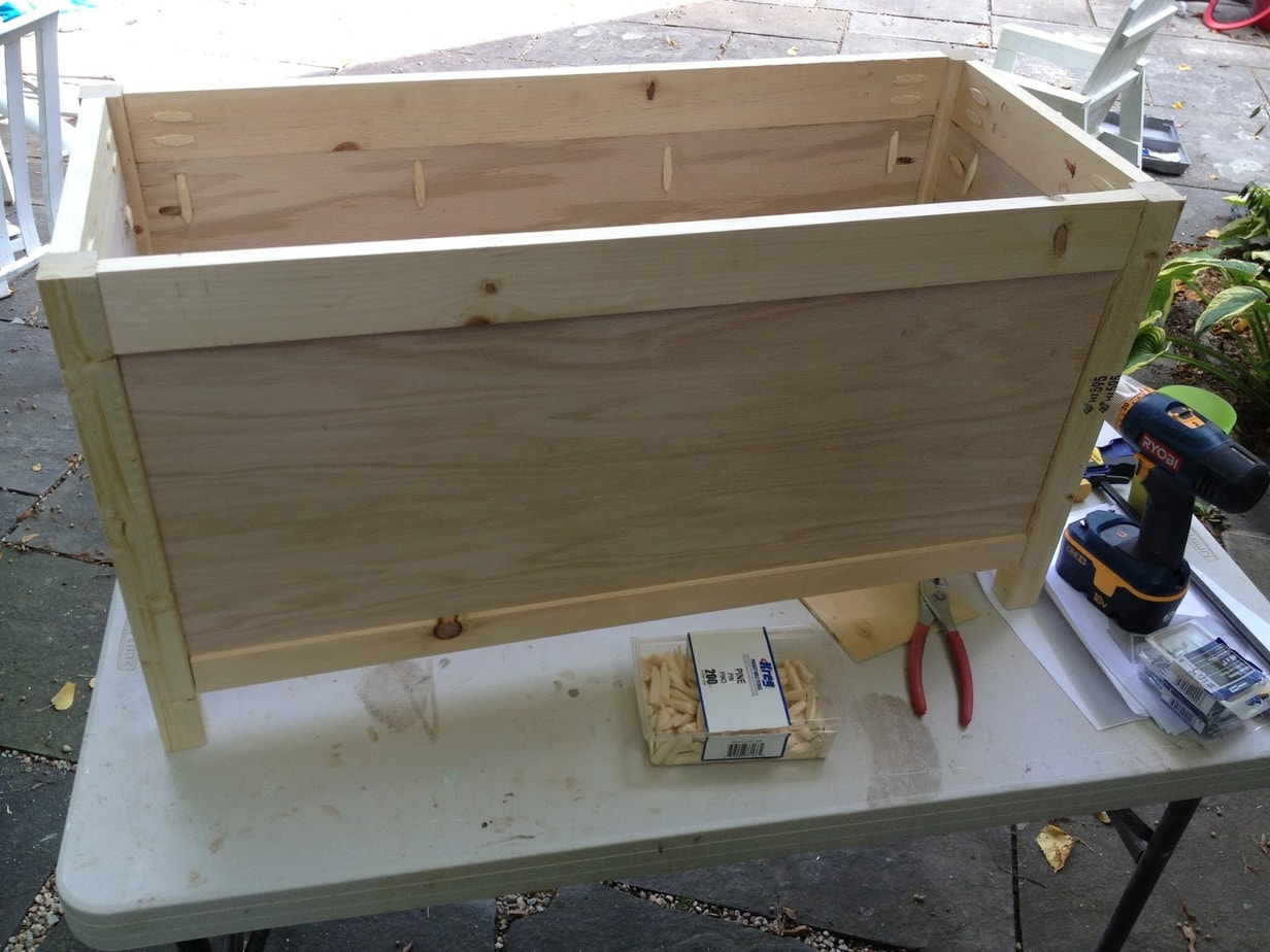 Diy simple toy box with lid jaime costiglio Build your own toy chest
