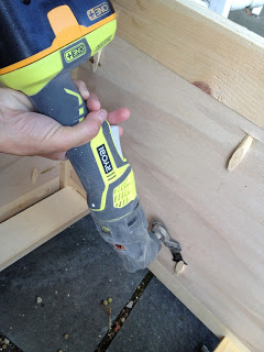 ryobi multi tool slicing pocket hole plugs
