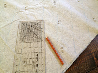 mark the quilting lines