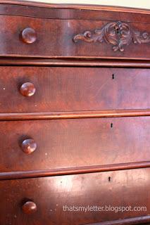 vintage dresser details