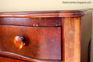 vintage dresser detail