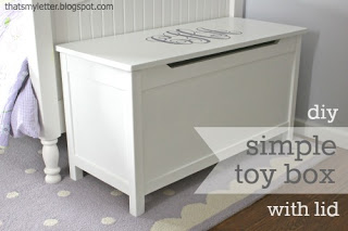 how to build a simple toy box with lid
