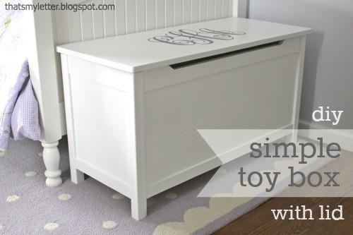 Diy Simple Toy Box With Lid Jaime Costiglio