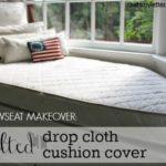 DIY Windowseat Cushion Cover