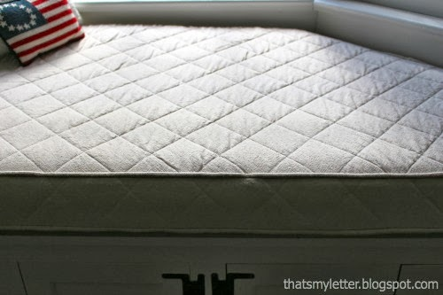 diy quilted drop cloth cushion cover