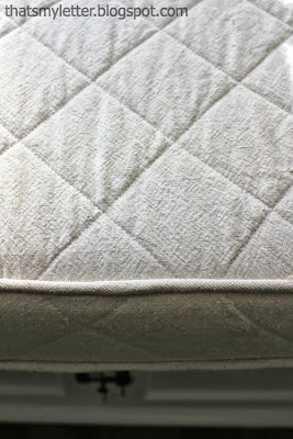 piping and quilted cushion cover