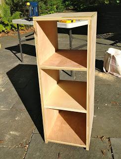 plywood cubby shelf