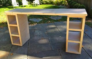 natural wood homework counter