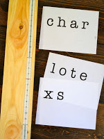 letters printed for personalization