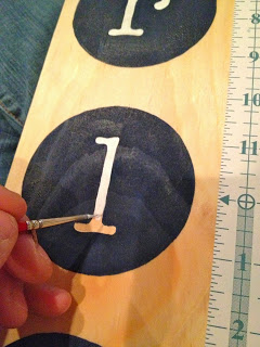 handpainting letters on growth chart