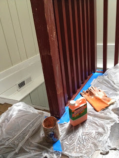 stripping railing balusters