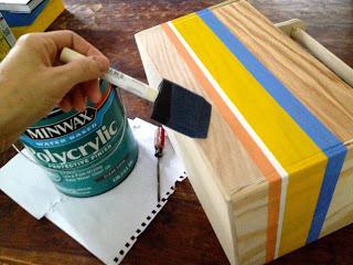apply polycryclic with foam brush