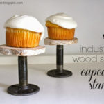DIY Industrial Cupcake Stand