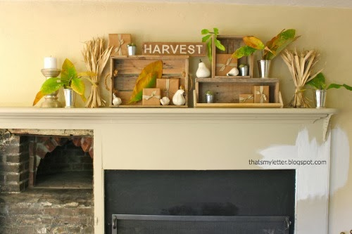 living room fall mantel