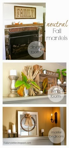 3 neutral fall mantels