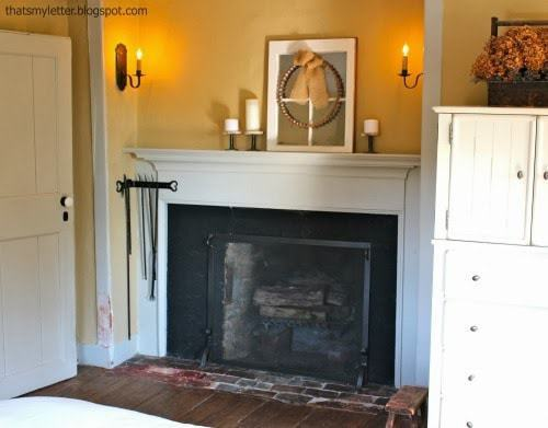 master bedroom warm fall mantel