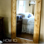 DIY Framed Floor Mirror