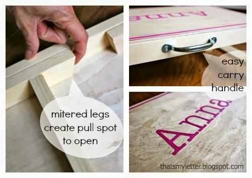 folding desk details