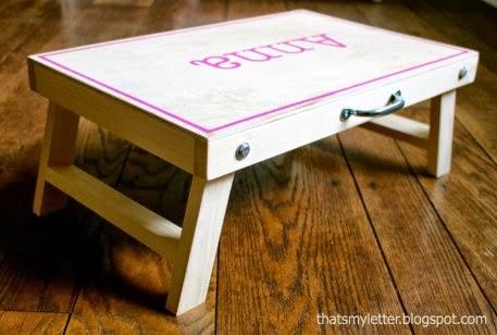 wood folding desk