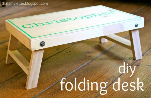 diy folding desk with movable legs