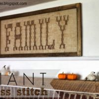 """G"" is for Giant Cross Stitch"